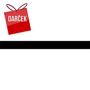 Čierna plastová lišta s priehradkou k týždennej plánovacej mape A2, 63 x 6 cm