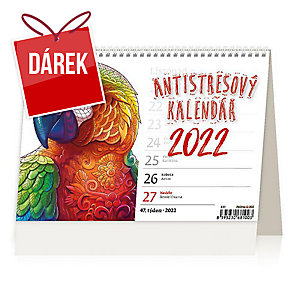 Antistresový kalendář - české týdenní sloupcové kalendárium, 60 + 2 strany