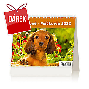 MiniMax Pejsci - české/slovenské týdenní řádkové kalendárium, 56 + 2 strany