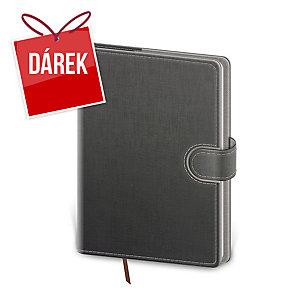 Diář denní A5 Flip - šedošedý, 14,3 x 20,5 cm, 352 stran