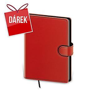 Diář týdenní A5 Flip - červenočerný, 14,3 x 20,5 cm, 128 stran