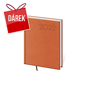 Diář denní B6 Print - oranžový, 12 x 16,5 cm, 336 stran