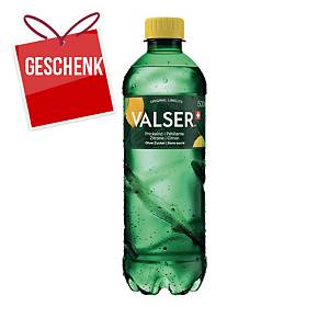 Mineralwasser Valser Prickelnd Zitrone, 50 cl, Packung à 24 Flaschen