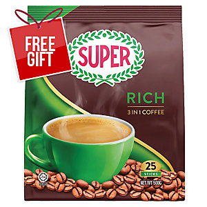 Super Coffee 3 in 1 Rich 20g Pack of 25