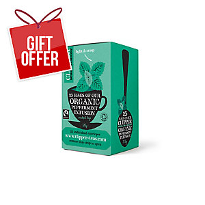 CLIPPER ENVELOPED PEPPERMINT TEA BAGS - PACK OF 25