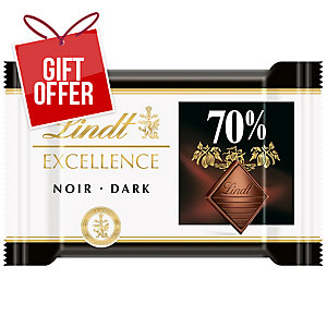 LINDT EXCELLENCE 70% DARK CHOCOLATE MINI TABS