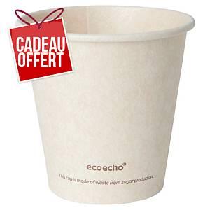 Gobelet en bagasse et PLA Duni Sweet ecoecho -18 cl - paquet de 50