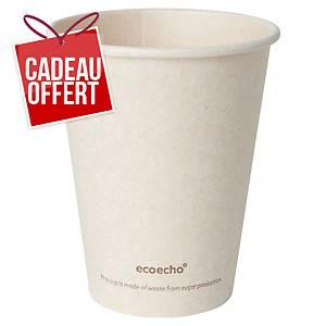 Gobelet en bagasse et PLA Duni Sweet ecoecho - 24 cl - paquet de 50