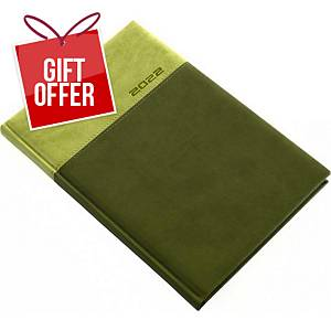 LUX WEEKLY DIARY B5 16.5X24CM GREEN