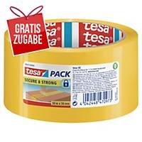 Packband Tesa tesapack Secure & Strong, 50mm x 50m, gelb
