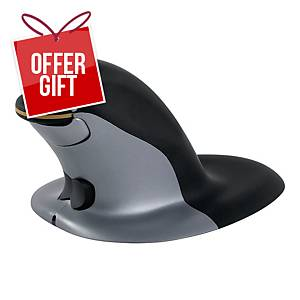 Penguin Ambidextrous Vertical Mouse Wired Small