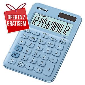 Kalkulator CASIO MS-20UC jasnoniebieski, 12 pozycji