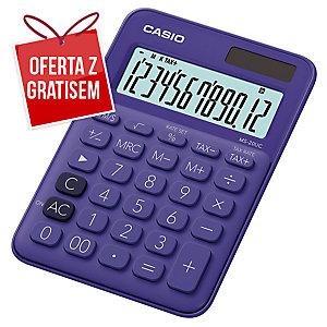 Kalkulator CASIO MS-20UC fioletowy, 12 pozycji