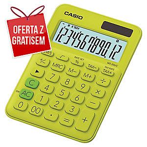 Kalkulator CASIO MS-20UC limonkowy, 12 pozycji