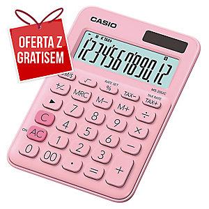 Kalkulator CASIO MS-20UC jasnoróżowy, 12 pozycji