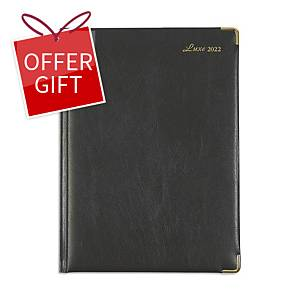 Luxe 41CF Diary One Day/Page A4 Black
