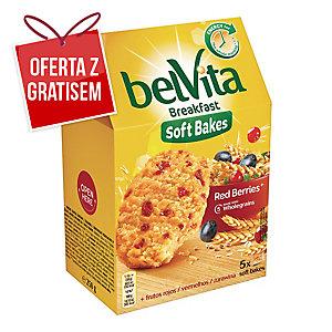 Ciastka BELVITA zbożowe z żurawiną, 5 ciasteczek, 250 g