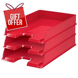 Rexel Choices A4 Letter Tray Red