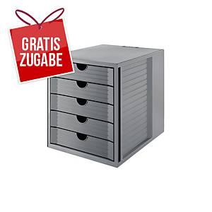 Schubladenbox HAN 14508, Karma, 5 Schubladen, öko-grau