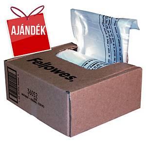 Fellowes hulladékgyűjtő zsák iratmegsemmisítőhöz, 23/28 l, 100 darab/csomag