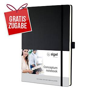 Notizbuch Sigel Conceptum CO108, A4, dotted, Hardcover, 194 Seiten, schwarz