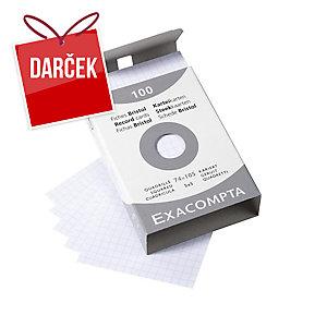 Lístky Exacompta do kartotéky A7, štvorčekové