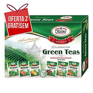 Zestaw herbat zielonych MALWA Green Teas Collection, 30 kopertek