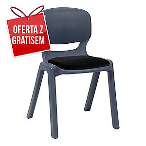 Krzesło ergonomiczne ERGOS, granat z czarną poduszką