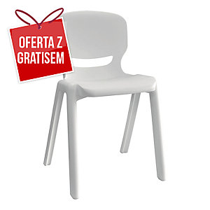 Krzesło ergonomiczne ERGOS, białe