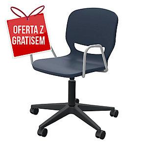 Krzesło ergonomiczne ERGOS Shell, obrotowe, granat