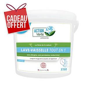 Tablette lave-vaisselle Action Verte - hydrosoluble - boîte de 160