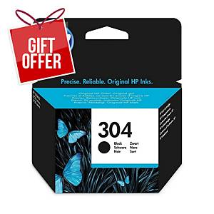 HP 304 Black Original Ink Cartridge (N9K06AE)