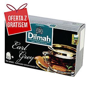 Herbata czarna DILMAH Earl Grey, 20 torebek