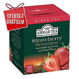 Herbata AHMAD Strawberry Sensation, 10 kopert