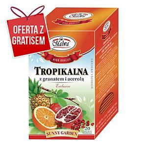 Herbata owocowa MALWA, Tropikalna z granatem i acerolą, 20 torebek