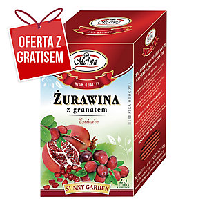 Herbata owocowa MALWA, Żurawina z granatem, 20 torebek