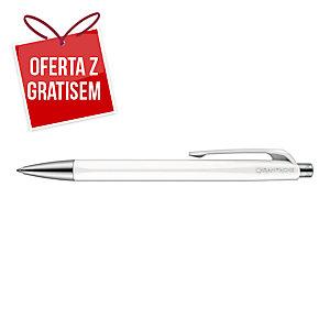 Długopis CARAN D ACHE 888 Infinite biały, wkład niebieski*