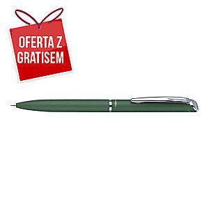 Eleganckie pióro kulkowe PENTEL BL2007 EnerGel zielone w etui