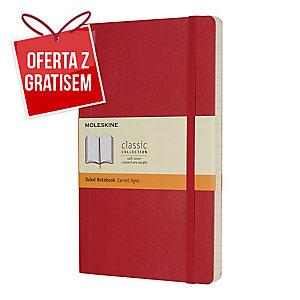 Notes Moleskine w miękkiej, czerwonej oprawie, rozmiar L, 192 strony w linie*