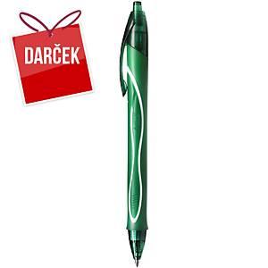 Gélové pero BIC Gelocity Quick Dry, klikacie, 0,7 mm, zelené