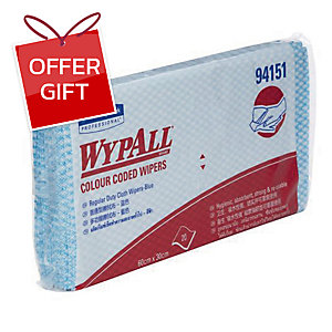 WYPALL COLOUR CODED REGULAR DUTY WIPERS BLUE PACK OF 20