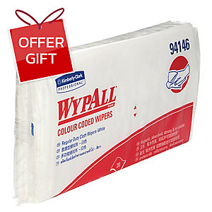 WYPALL COLOUR CODED REGULAR DUTY WIPERS WHITE PACK OF 20