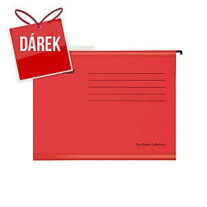 Závěsné obaly Esselte Classic, pro A4 dokumenty, barva červená, balení 25 ks