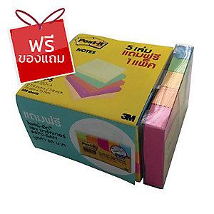 POST-IT กระดาษโน้ต 654-5VAD 3 X 3 นิ้ว คละสีนีออน แพ็ค 5 ฟรีเพจมาร์กเกอร์