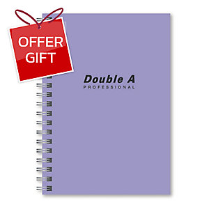 DOUBLE A WIREBOUND NOTEBOOK B5 70GRAMS 60SHEETS PURPLE