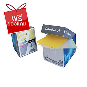 DOUBLE A กระดาษโน้ตกล่อง 80แกรม 600แผ่น ขนาด 6x8.3ซม. สีพาสเทล
