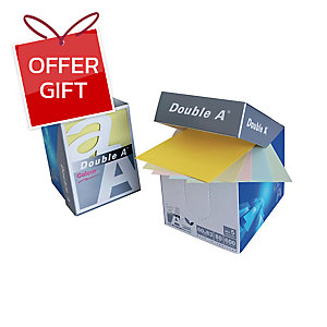 DOUBLE A MINIBOX NOTEPAD 80GRAMS 600SHEETS PASTEL