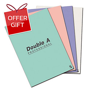 DOUBLE A REPORT PAD 70GRAMS 50SHEETS ASSORTED COLOURS PASTEL