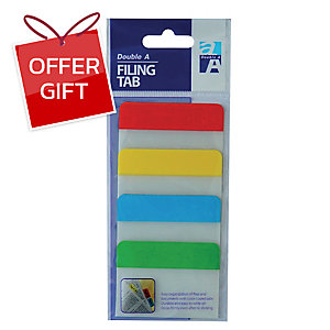 DOUBLE A FT040108 FILING TAB HALF 38X51MILLIMETERS