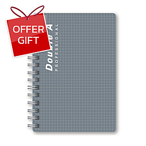 DOUBLE A PROFESSIONAL WIREBOUND NOTEBOOK A5 70GRAMS 100SHEETS GREY